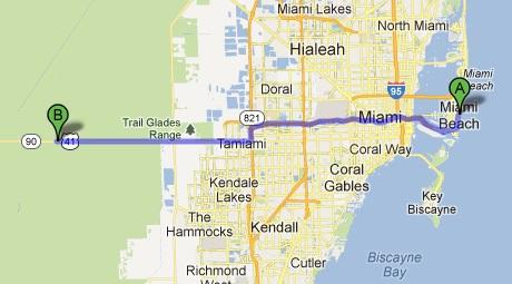Mapa Everglades
