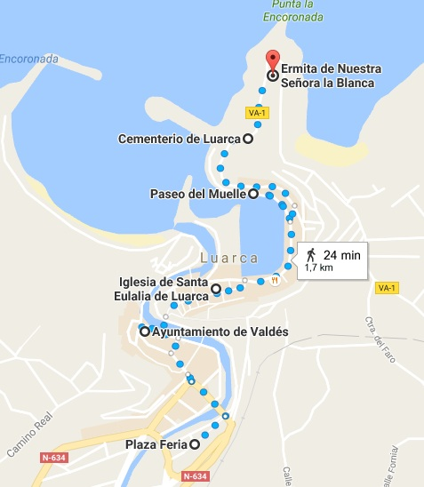 Mapa Luarca