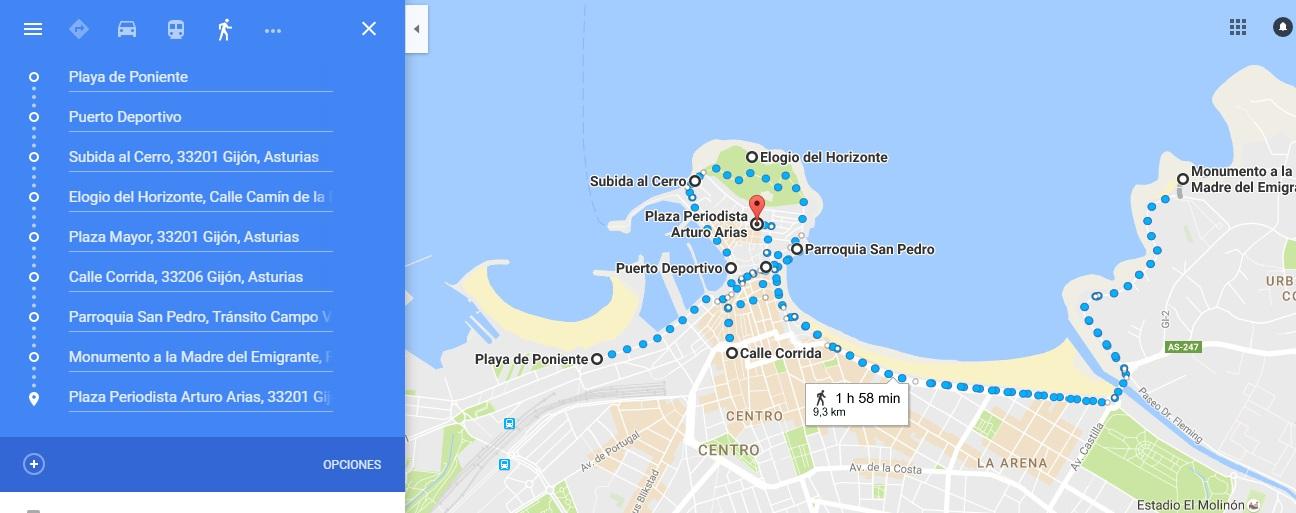 ruta por Gijón