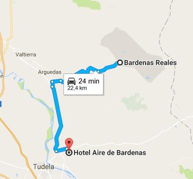 Mapa Hotel Aire de Bardenas
