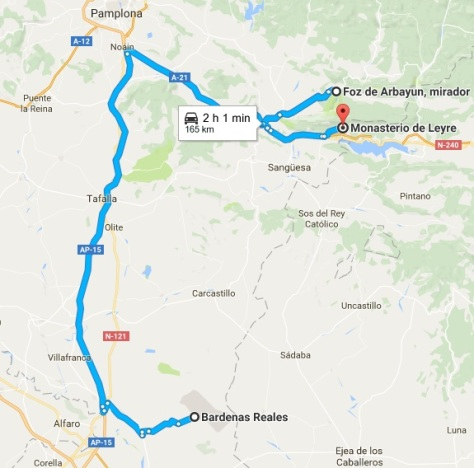 Mapa ruta BARDENAS REALES
