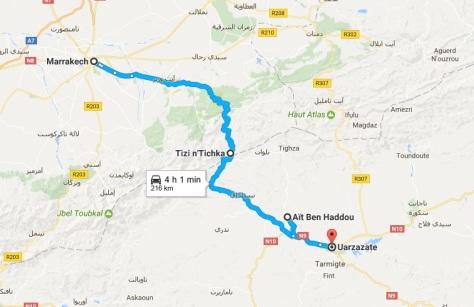 Camino Marrakech - Ouarzazate
