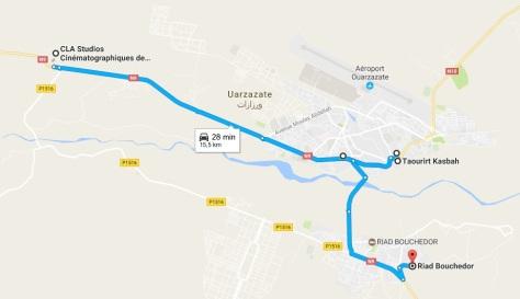 Ruta en Ouarzazate