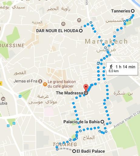Ruta guía Marrakech