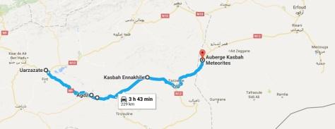 Ruta Ouarzazate hasta comida