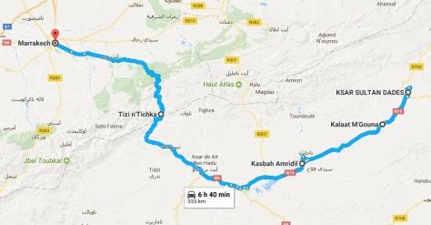 Viaje vuelta a Marrakech