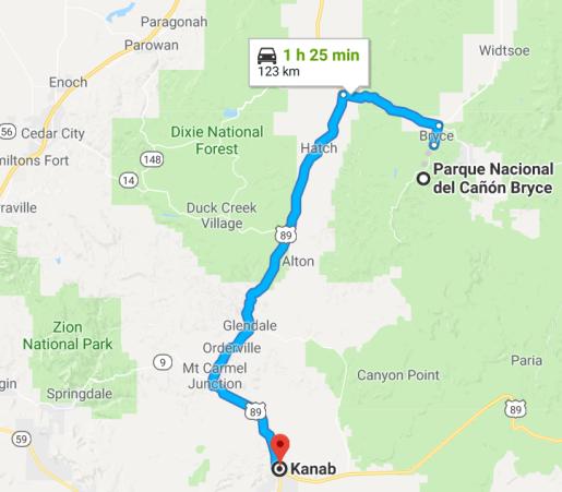 Kanab- Bryce canyon