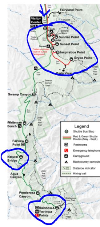 Mapa Bryce