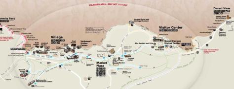 Mapa Gran Cañón