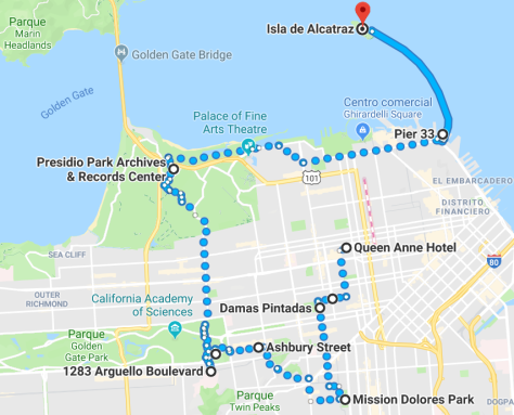 Ruta día Alcatraz