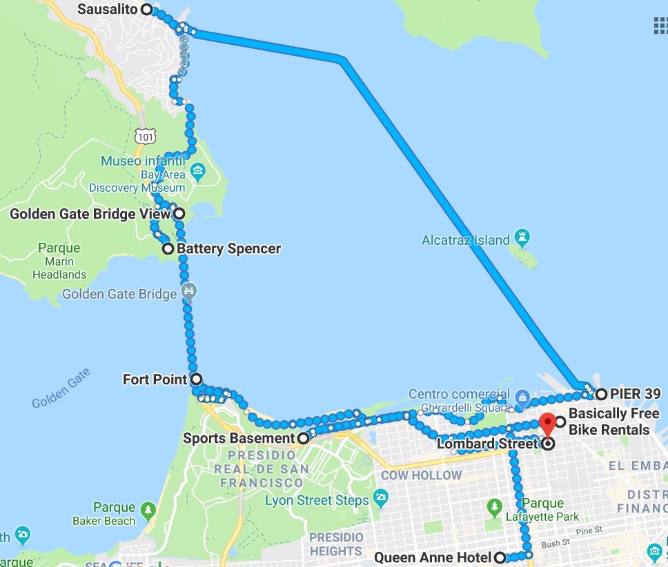 ruta día Golden Gate