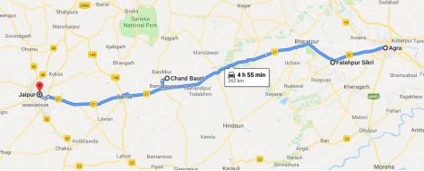 Ruta Agra a Jaipur