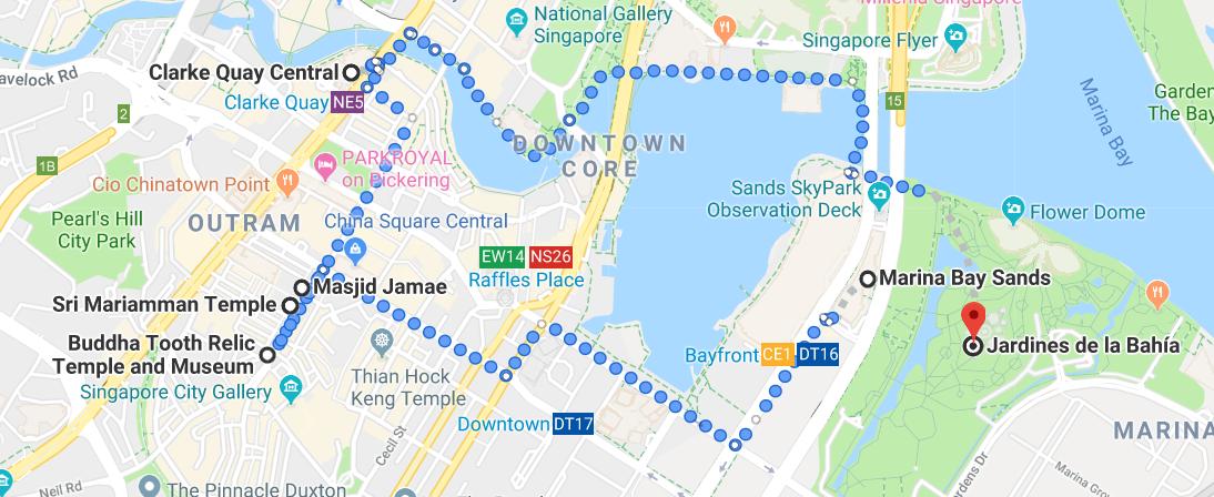 ruta día 2 singapur